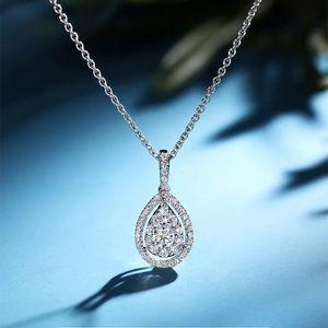 🌹New Silver Diamond Waterdrop Necklace